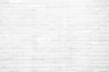 Spoed Foto op Canvas Baksteen muur White grunge brick wall texture background