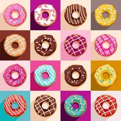 Donuts, vector clip art.