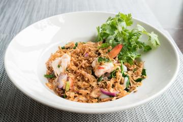Shrimp salad vegetables