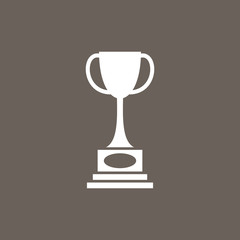 Winners Trophy Icon on Dark Gray Color. Eps-10.