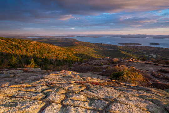 Beautiful fall colors of Acadia, Maine.