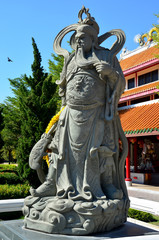 Guan Yu Statue at Suphanburi city pillar shrine
