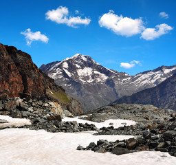 Weissmies mountain in the Pennine Alps - Switzerland
