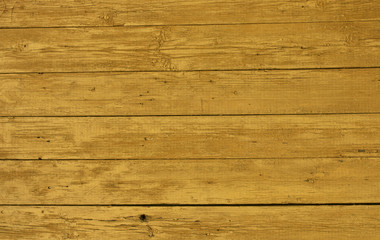 Yellow weathered wooden wall texture.