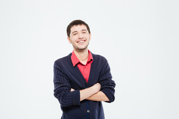 Casual man standing with arms folded