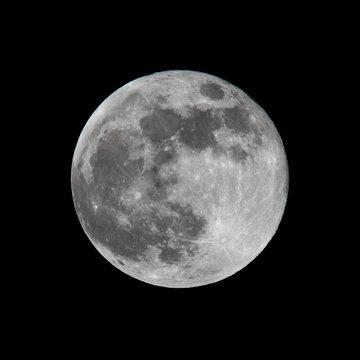 full moon shot on black