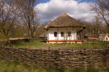 Ancient traditional ukrainian hut