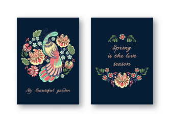 Greeting cards with birds