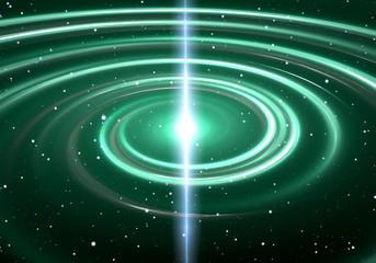 Pulsar highly magnetized, rotating neutron star