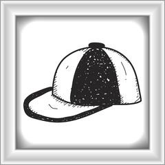 Simple doodle of a cap