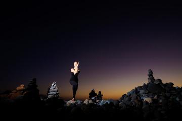 Oriental yoga session on Tenerife