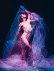 The art photo-emotional dance of beautiful ballerina