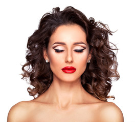 Professional makeup and hairstyle