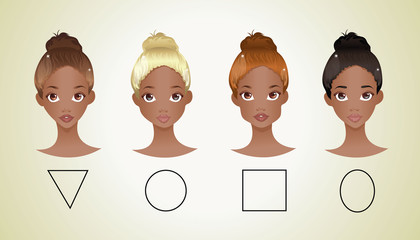 Different shapes of face ( African American version )