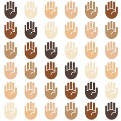 Vector seamless skin tones background