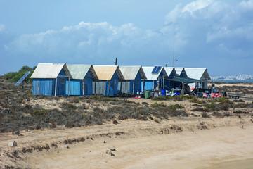 Capanne di pescatori - Ilha Deserta - Algarve - Portogallo