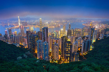 Photo sur Aluminium Hong-Kong Hong Kong Skyline