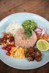 Shrimp paste fried rice.
