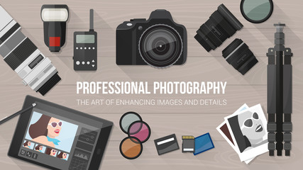 Professional photography banner