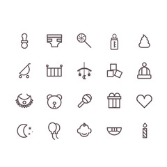 baby icon set vector.line icons.