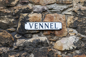 Vennel Street Sign in Edinburgh, Scotland.
