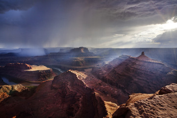 Storm at dead horse point state park, Utah, America, USA