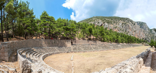 Wall Mural - Ancient stadium in Delphi