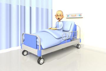 入院している老人