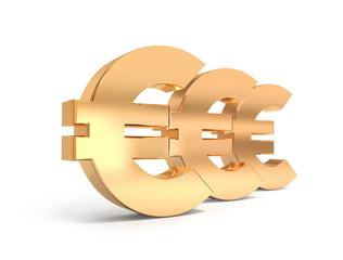 Golden Euro Signs.