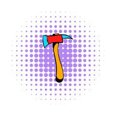 Axe for a firefighter icon, comics style