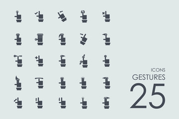 Set of gestures icons