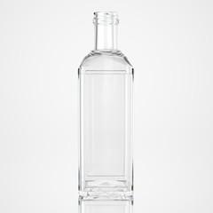 Glass bottle on white background