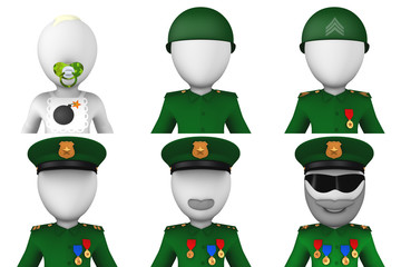 3d military avatars