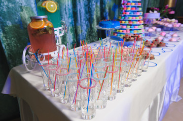 Candy bar on party