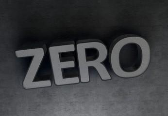 Zero, 3D Typography