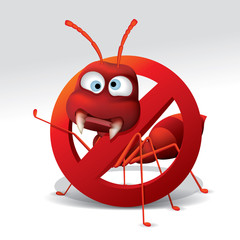 ant repellent vector , stop ant sign , no ant. Vector illustration