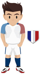 Soccer Kit of France National Team for European Competition 2016