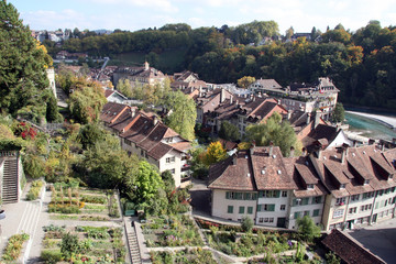 Stepped Bern / Terraced gardens in Bern (capital of Switzerland)
