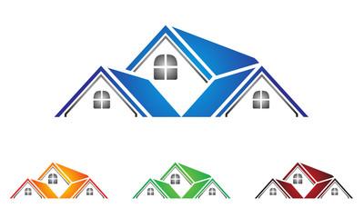 real estate, building, house, property, home logo design