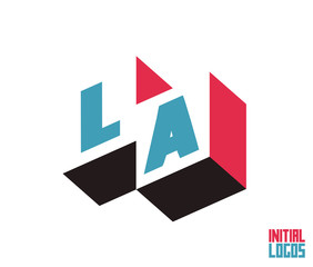 LA Initial Logo for your startup venture