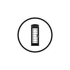 Icon telephone box.