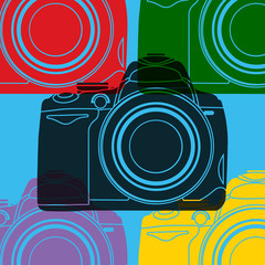 Appareil photo reflex pop art