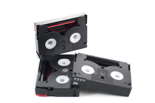 Mini DV tape isolated on a white background