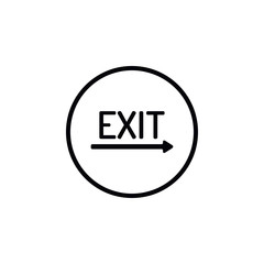Icon exit sign.