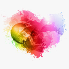 Abstract Watercolor vector heart