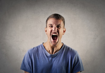 Screaming man