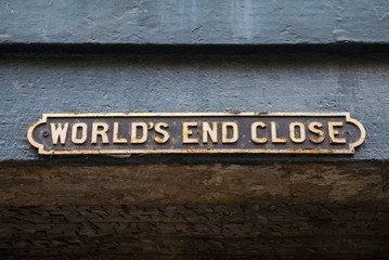 World's End Close in Edinburgh, Scotland.