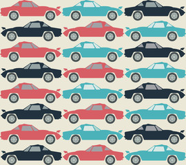 Stylish pattern with retro cars