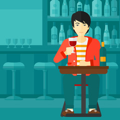 Man sitting at bar.