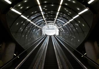 Warszawskie metro, wyjście ze stacji Centrum Nauki Kopernik